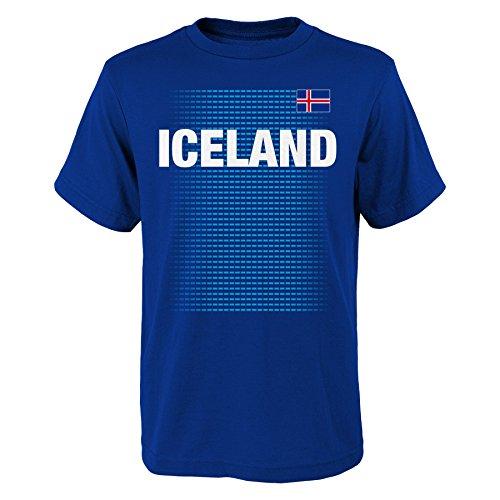 World Cup Soccer Iceland Men's 'One Team 2018' Tee, Royal, Mens Medium