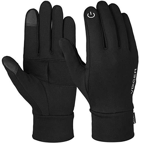 Gants d'hiver antidérapants pour Sports avec écran Tactile Doux et réfléchissants en Silicone, Femme, with Pocket, Small