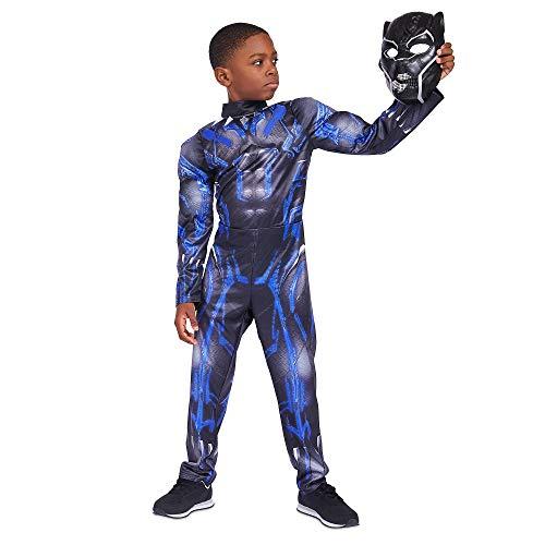 Marvel Black Panther Light-Up Costume for Kids Size 7/8 Black