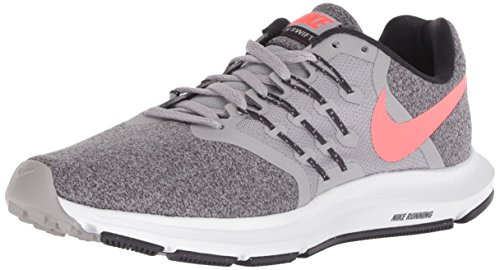 Nike Men's Run Swift Sneaker, Atmosphere Grey/Flash Crimson, 7.5 Regular US