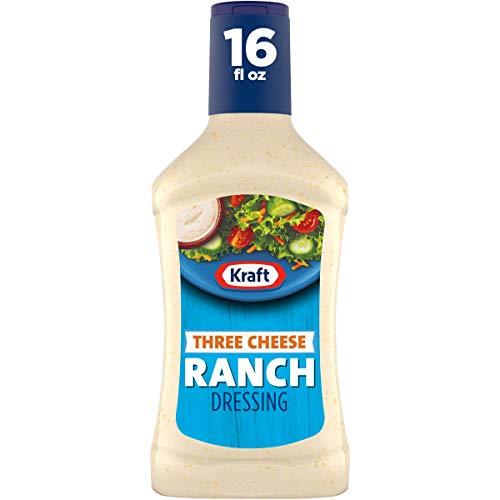 Kraft Three Cheese Ranch Salad Dressing (16 fl oz Bottles, Pack of 6)