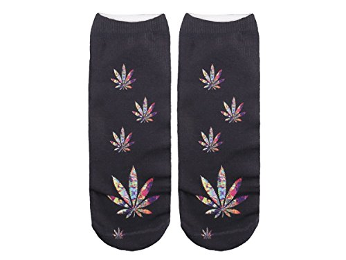 Unbekannt Socken bunt mit lustigen Motiven Print Socken Motivsocken Damen Herren ALSINO, Variante wählen:SO-L053 Marihuana