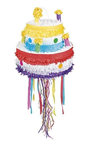 Pignatta Torta di compleanno (31x29cm) con nastri