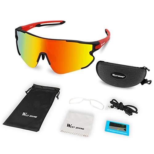 N/A/ Gafas de sol polarizadas de ciclismo MTB bicicleta de montaña bicicleta de carretera gafas de equitación hombres mujeres deporte al aire libre senderismo gafas