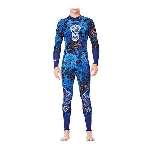 XZYP Heren Vrouwen 1-Stuk 3Mm Neopreen Camo Wetsuit Terug Zip Full Body Scuba Duiken Jumpsuit Surfen Zwemmen Spearfishing