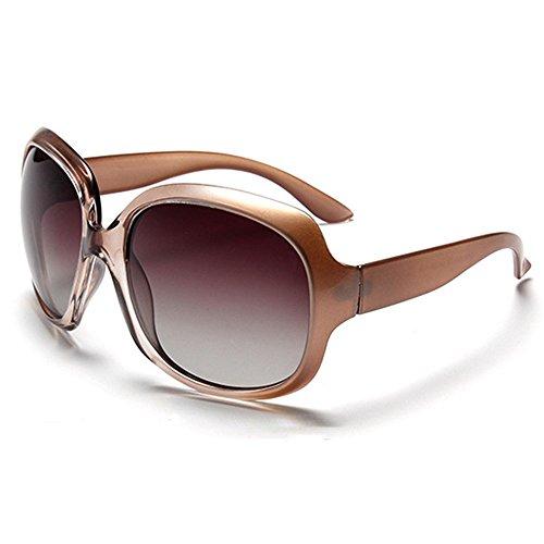 B BIDEN BLDEN Mujer Grande Gafas De Sol moda polarizadas gafas UV400 Protección Para Conducción GL3113-CHAMPAGNE