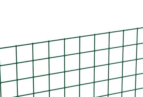 GAH-ALBERTS 614508 Schweißgitter, grün, 500 mm Höhe, 5 m Rolle, 12,7 x 12,7 mm Maschenweite