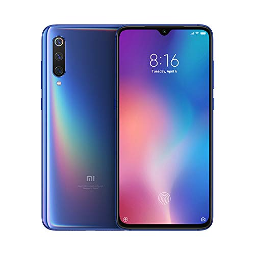 "Xiaomi MI 9 Smartphone, 64 GB, display AMOLED 6.39"", 2280x1080, Snapdragon 855 Octa-core, 6 GB RAM, Tripla Fotocamera 48+16+12 MP, Blu"