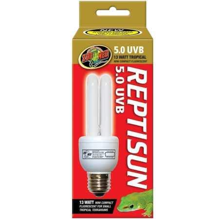 Zoo Med FS-C5ME Repti Sun Compact UVB-Lampe für Reptilien, 13 W