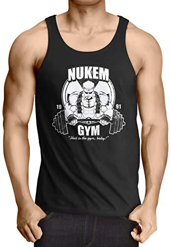 style3 Nuke Gym Camiseta para Hombre T-Shirt Ego Shooter Dos Doom Baby, Talla:XL