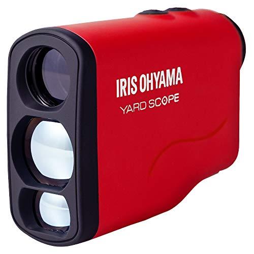 アイリスオーヤマ レーザー距離計 最大測定距離 660yd ゴルフ用品 軽量 (ケースカバー 電池付き) PLM-600-R レッド