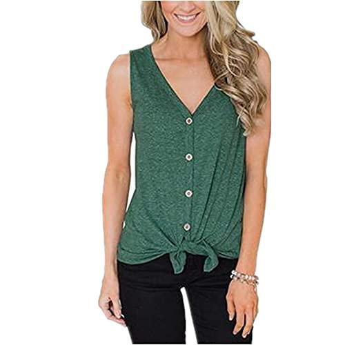 Tops Mujer Comodidad Cuello En V Personalidad Dobladillo Diseño Exquisitos Botones Mujer Camisa Moda Simple...
