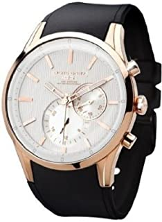 Jorg Gray ヨーグ・グレイ ヨーググレイ Men's JG5100-34 Rose Gold Black Silicone ストラップウォッチ 男性用 メンズ 腕時計 (並行輸入)