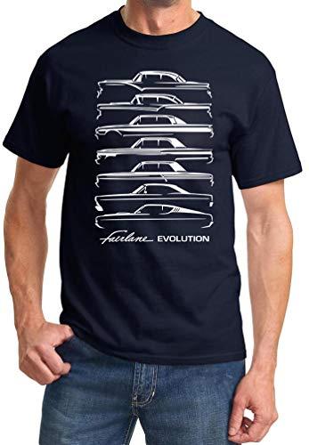1955-69 Ford Fairlane Evolution Classic Outline Design Tshirt XL Navy Blue