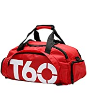 Travel Duffel Bag Fashion Folding Sports Bag Gym Bag Water Resistant 3 Ways Carry With Shoes Rack