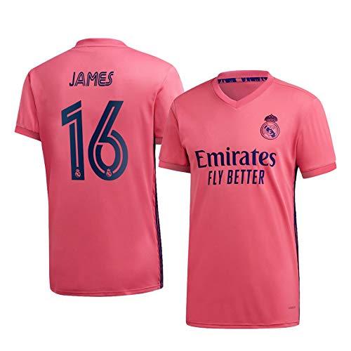 F-shop James Rodríguez Real Madrid Pink,Maillot James Rodríguez Trikot 2020/21 für Herren & Jungen(Pink,28)
