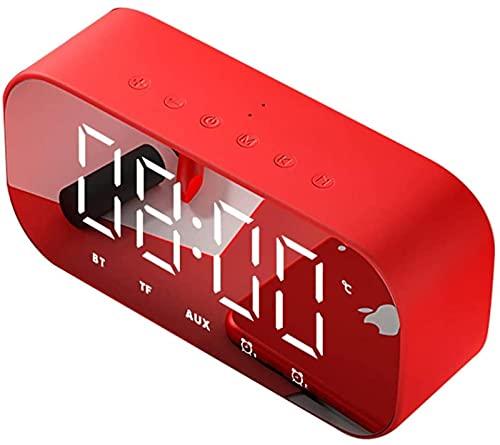 DFGBXCAW Reloj Reloj Despertador Digital Radio Reloj Digital LED con Pantalla Grande Radio FM Atenuador de Rango Completo Alarma Inteligente Doble Temporizador de sueño Snooze, Azul
