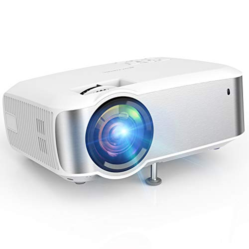 Projector, TOPVISION 1080P Supported Video Projector with 4500L, 60,000 Hrs Home Projector for Indoor/Outdoor with Speakers, Compatible with Fire TV Stick, PS4, HDMI, VGA, AV, USB