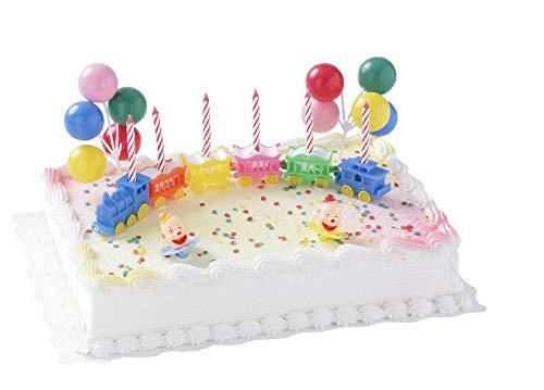 Cake Company Tortendekor Kindergeburtstag Zirkuszug mit Ballons und Kerzen