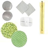 Wrapables Macaroon Coin PurseハンドメイドDIY、ライトグリーンポルカドット