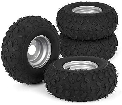 Bestauto ATV Go Kart Tires and Rims 145x70 6 Inch Golf Cart Tires 90CC Go Kart Buggy ATV Mini product image