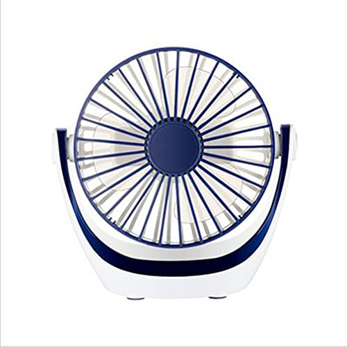 Greatangle-UK Mini Ventilador de Mesa Personal con Fuerte Flujo de Aire, portátil Ultra silencioso, Cabezal Ajustable, rotación de 360 Grados, USB para Dormir, Azul 165 * 130 * 35 mm