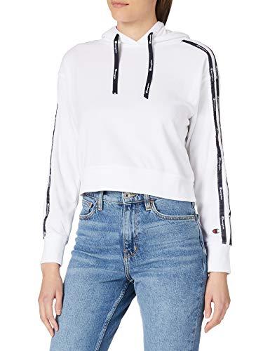Champion Seasonal AC Sponge Hooded Sweatshirt, White, M Womens