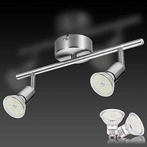 Lampadario Faretti Led Soffitto, Lampada da parete e Soffitto con 2 spot LED