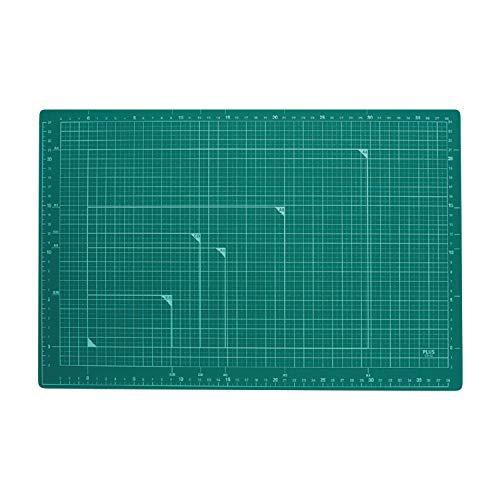 プラス カッターマット 両面 A3 300×450mm グリーン 48-584