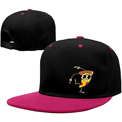 BallainB Uncle Grandpa Pizza Steve Unisex Cotton Adjustable Snapback Hat One Size Pink