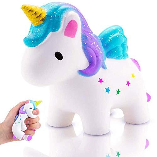 Unicorn gel paillettes Slime Avec Figurine Enfants Collant Jouer Fête D/'Anniversaire Idée Cadeau