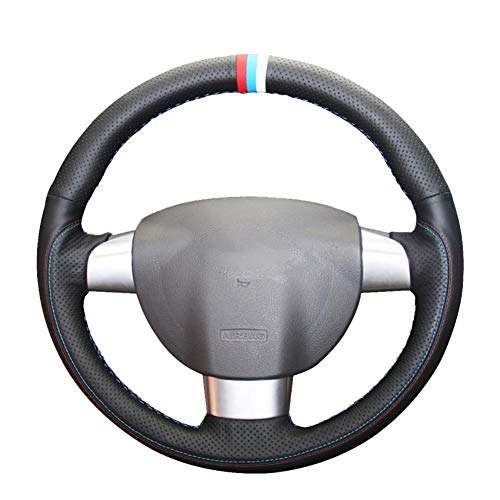 MDHANBK Funda para volante de coche cosida a mano, para Ford Focus 2005-2011 Focus CC 2007 2008 2009 2010 2011 (3 radios)