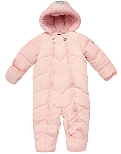 DKNY Baby Girls Cozy Puffer Fully Sherpa Fur Lined Snowsuit...