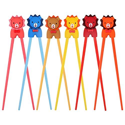 NGLSCXR 8 PCS Capacitadores de Entrenamiento, Multicolor Lindo Oso Panda Gato, para Principiantes niños Adultos Entrenamiento Chopsticks Conjunto, con Soporte Auxiliar Derecho o zurdo (Color : 1)