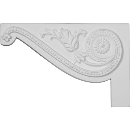 Ekena Millwork SB11X07PE-L Large Pearl Stair Bracket, Left, 11'W x 7'H x 5/8'D, Primed