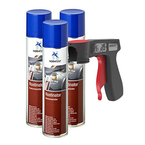 AUPROTEC Rostumwandler Rostinator Rost Off Roststopp Converter Korrosionsschutz Spray 3X 400ml + 1x Original Pistolengriff