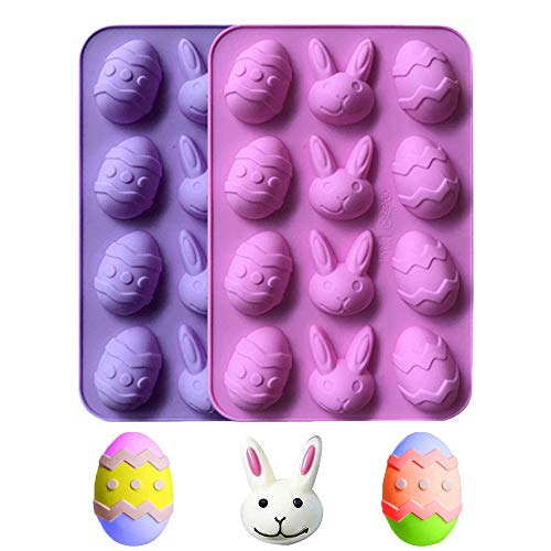 12 Holes Easter Egg Chocolate Silicone Mold DIY Baking Cake Mold Candy Making Molds Trays Cooking...