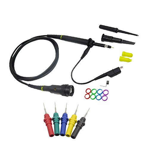 dolity 5pcs Automotive prueba de diagnóstico accesorios OSCILOSCOPIO Sonda pines + sonda de osciloscopio, 1x/10x, 200MHz Osciloscopio sondas Clip Kit