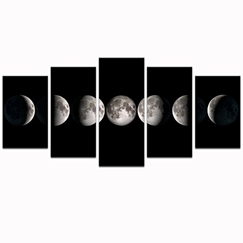 Canvas wall art prints the moon phases pictures