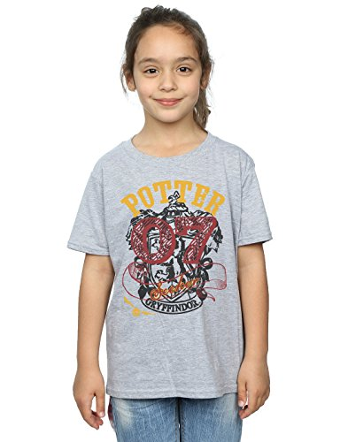 HARRY POTTER niñas Gryffindor Seeker Camiseta 12-13 Years Gris Sport