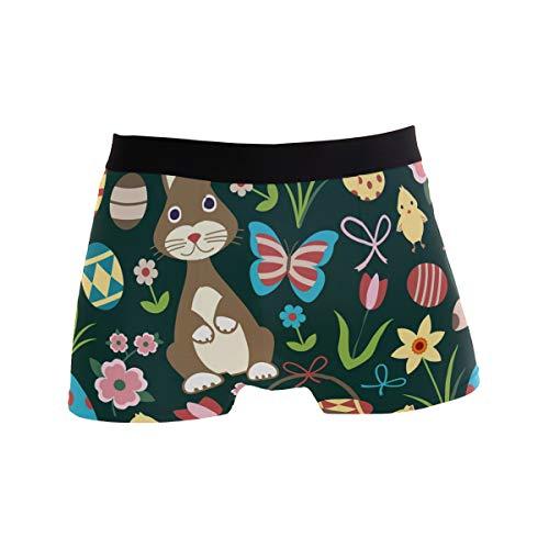 PINLLG Herren-Boxershorts mit Osterhasen-Motiv, niedliches Küken, für Jungen, Jugendliche, Herren, Unterwäsche, Polyester, Spandex, Komfort Gr. M, mehrfarbig