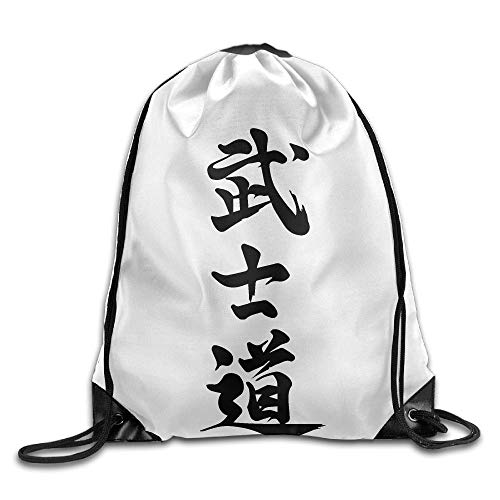 NA Kanji Bushido - Mochila unisex al aire libre con cordón