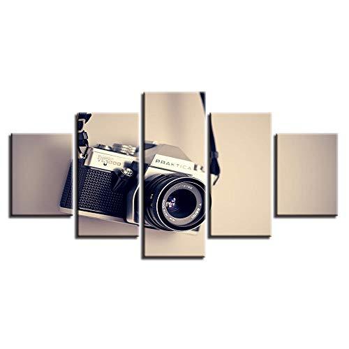 mychoose Póster de Obras de Arte, Cuadros de Lienzo modulares, 5 Piezas, Pintura de cámara, decoración del hogar para Sala de Estar, Impresiones HD, Arte de Pared Moderno