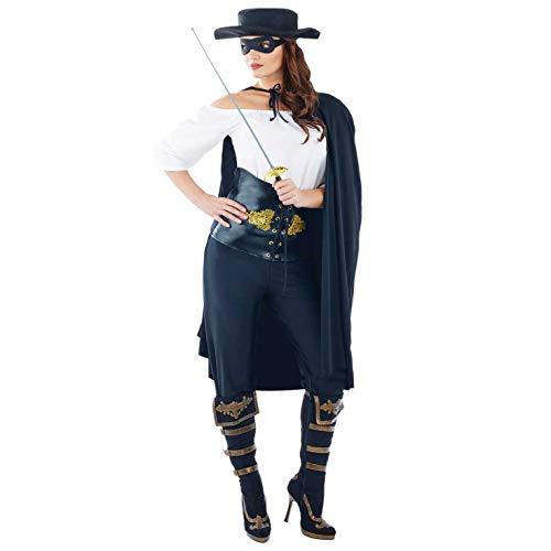 Fun Shack Schwarz Maskierte Helden Kostüm für Damen - Groß