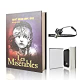 EIOUMAX Booksafe Diversion Secret Real Book Hidden Safe with Key Lock Real Paper Book Locking-Les Miserables