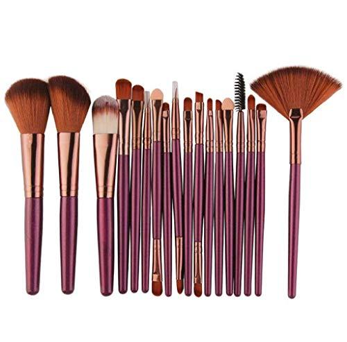 Scpink Make-up-Pinsel-Set, 18 Stück, 5 Farben, professionelle Make-up-Pinsel, für Damen, Plating, Handle, Make-up-Pinsel (Khaki)
