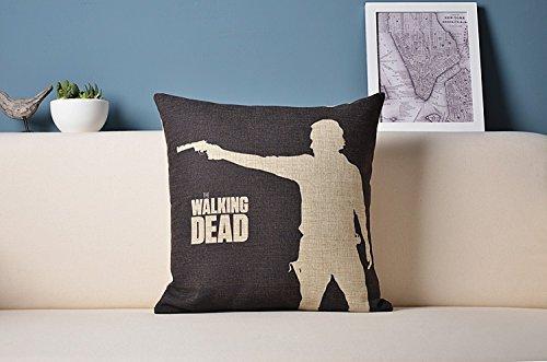 were Peneric Walking Dead Dail,Michonne,Rick Pillowcase ? Design Cotton Pillow Case Cover Cushion Fundas para Almohada 20x20Inch(50cmx50cm)