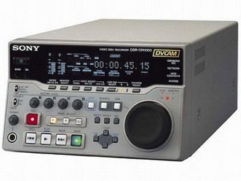 Sony DSR-DR1000 DVCAM HDD Hard Disk Drive Recorder, Simultaneous Player & Recorder, 1 2 Rack