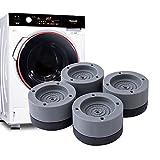 GZMUK Waschmaschine Fußpolster, Schwingungsdämpfer, Antivibrationsmatte, Lärmschutz rutschfeste...