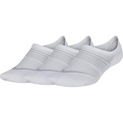 Nike unisex Everyday Lightweight Socken, 3er Pack, Weiß (White/Wolf Grey/100), 38-42/M